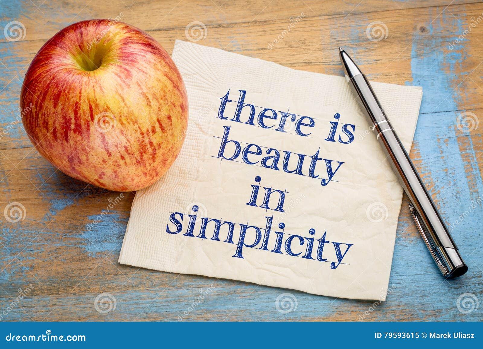 Hay belleza en simplicidad