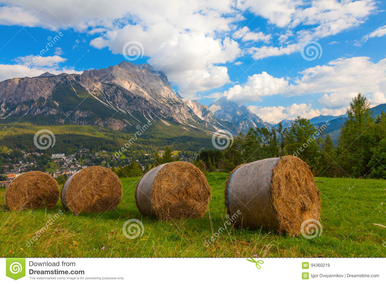 Hay Meadows In Rolls Italy Stock Image Image Of Autumn
