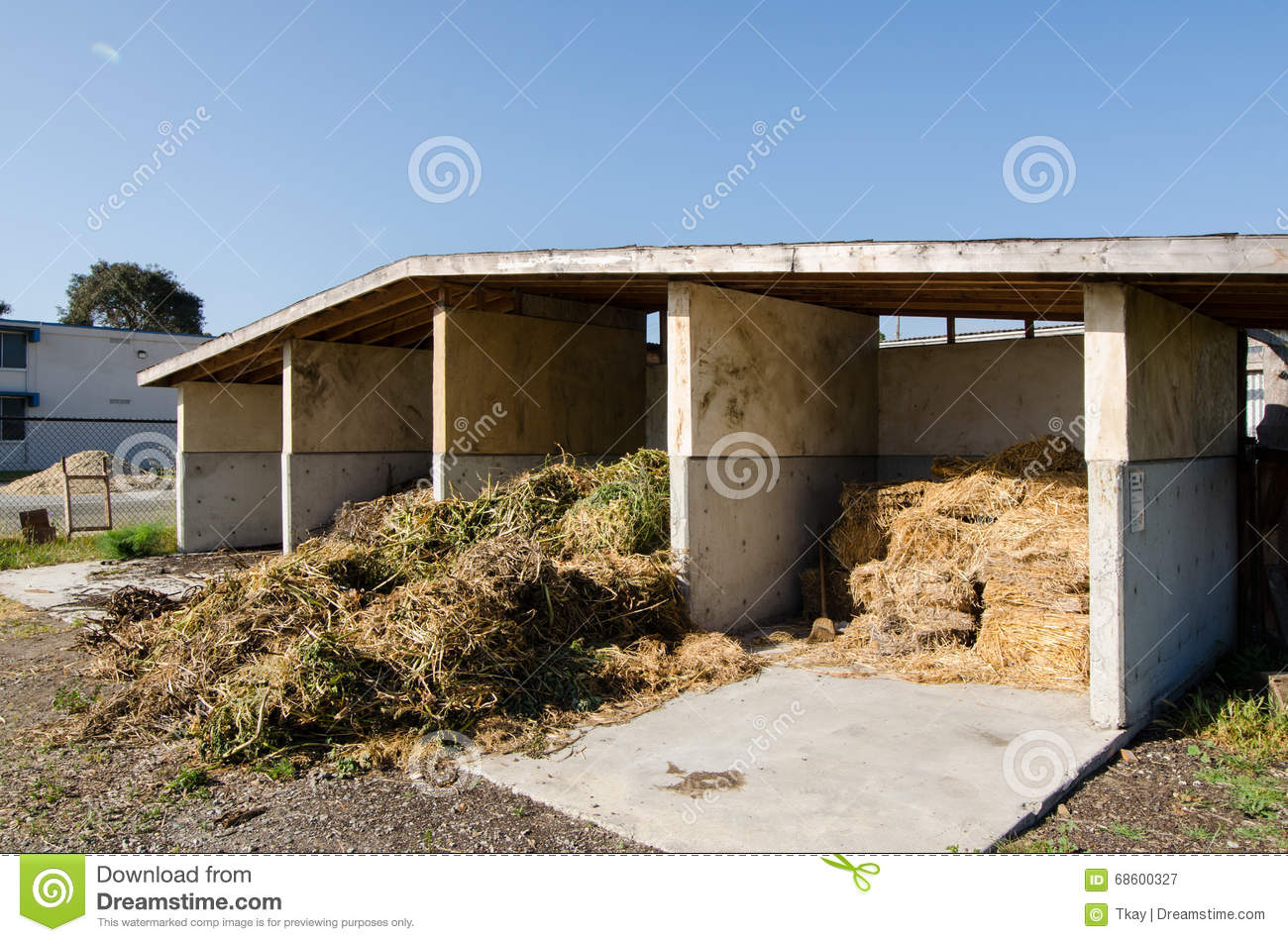 Download comp & Hay storage shed stock image. Image of shed storage - 68600327