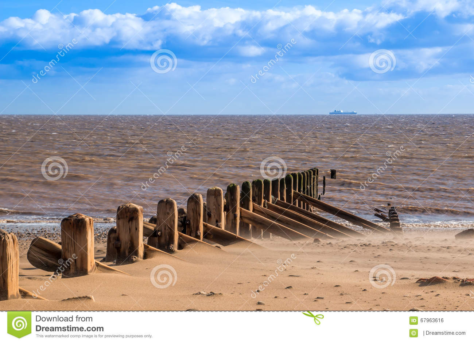 Haya del punto de la cabeza de Spuen y Mar del Norte