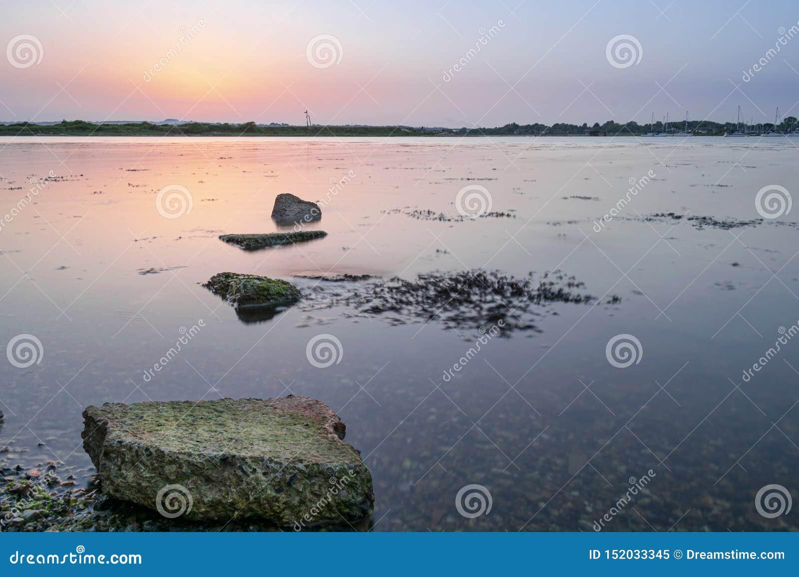 Haylingseiland, de zonsondergang van Hampshire