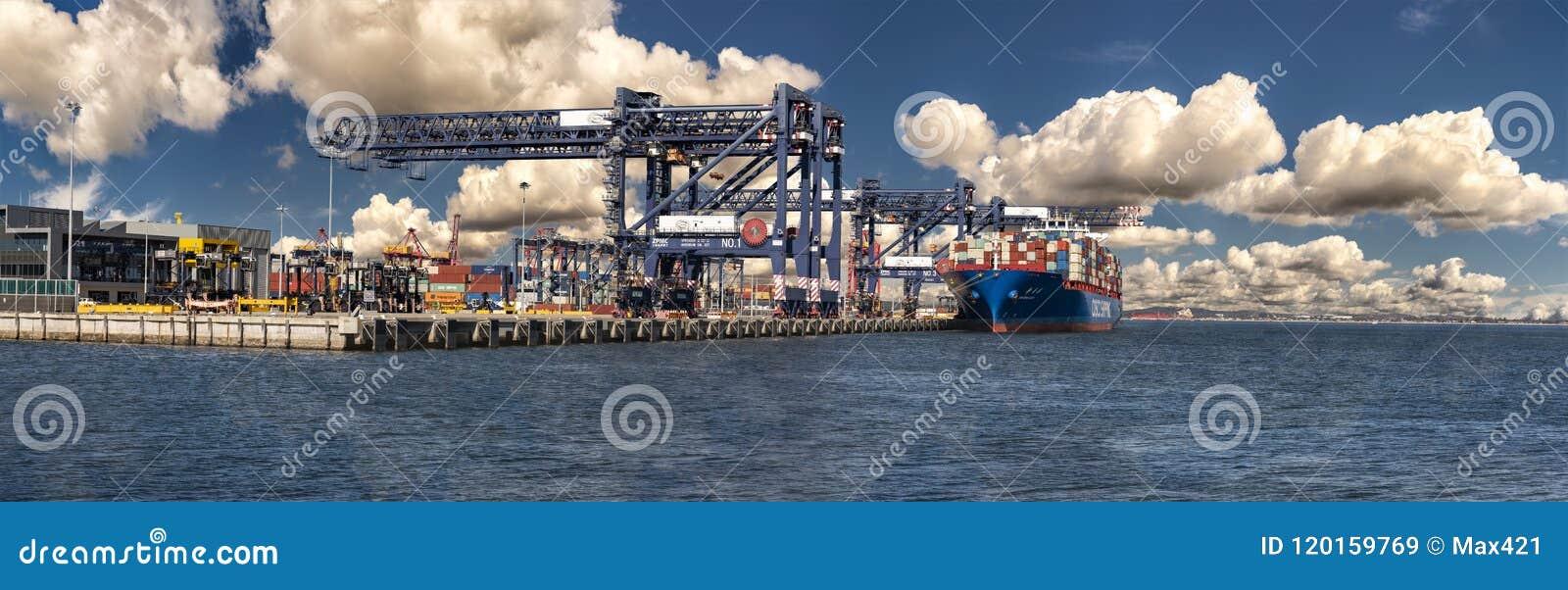 Haynes Dock Container Cargo Wharf, Port Botany Editorial