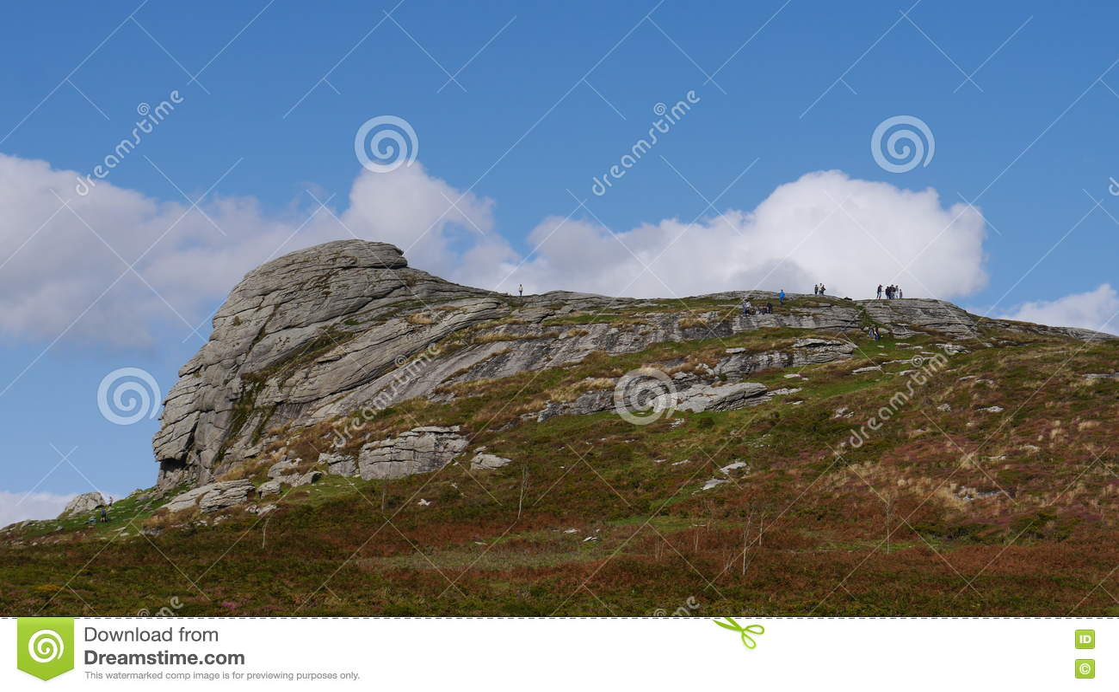 Haytorrots op het nationale Park van Dartmoor