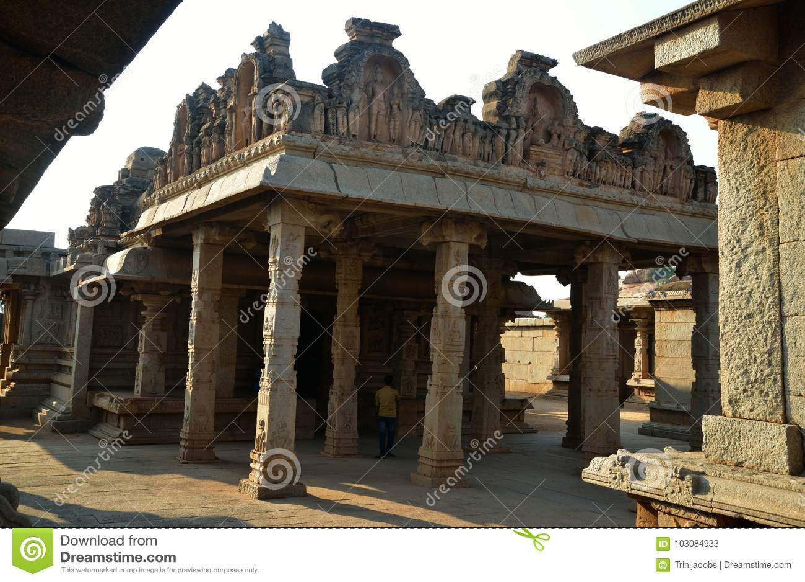 Hazara Rama Temple, Hampi, Karnataka, Indien
