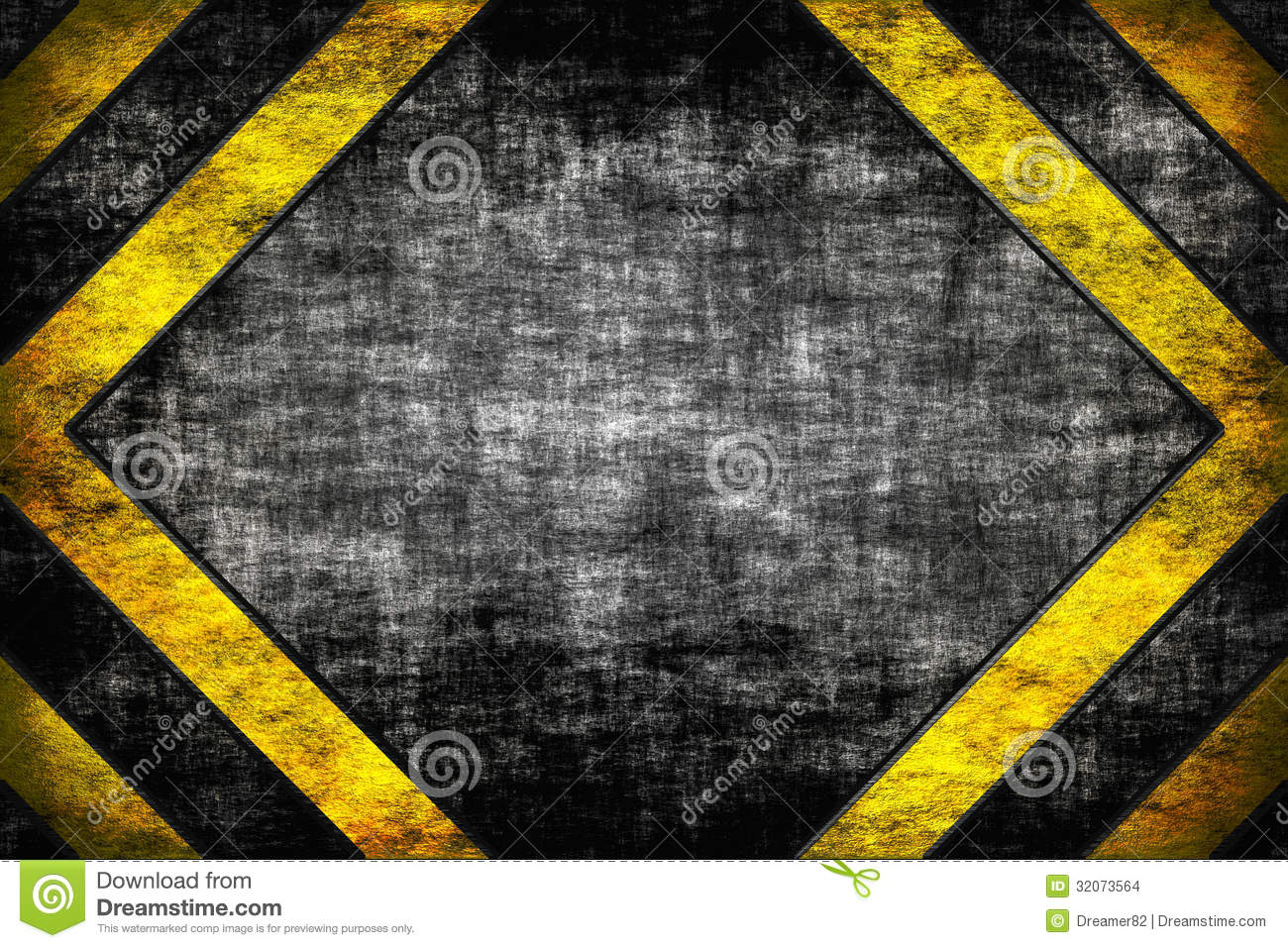 Hazard Background Warning Lines Black And Yellow Stock