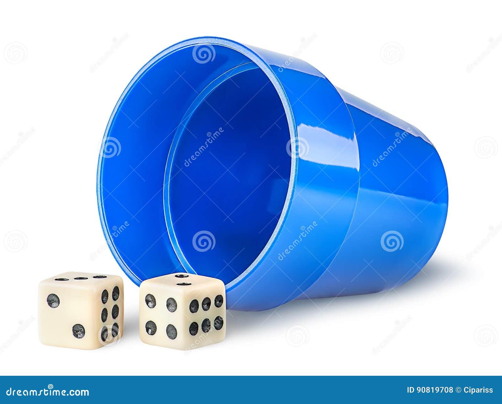 Hazard filiżanka i kostka do gry