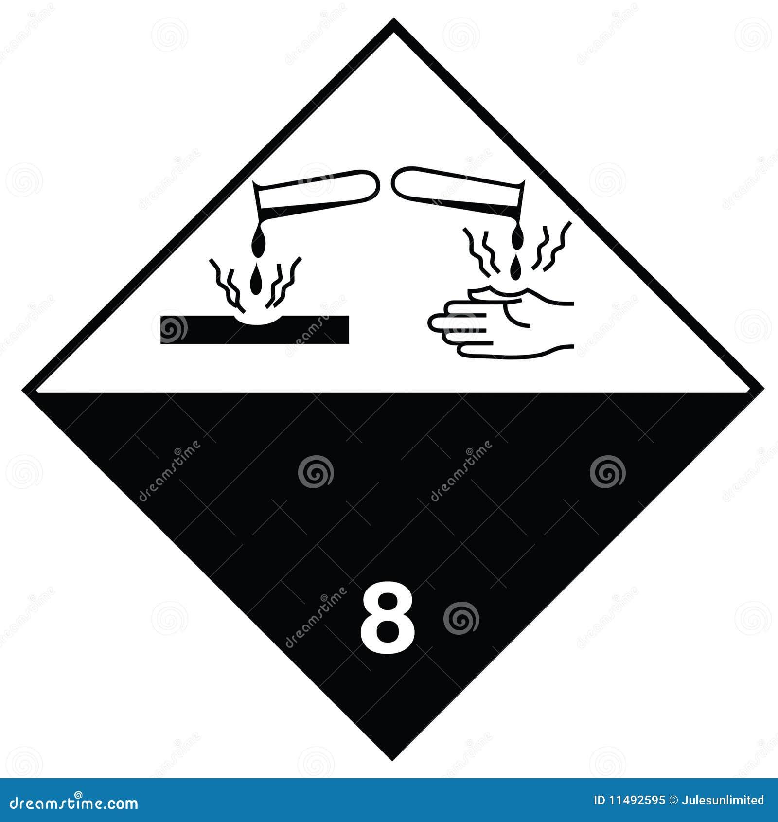 Hazard sign corrosive substances stock image image of background hazard sign corrosive substances biocorpaavc Gallery