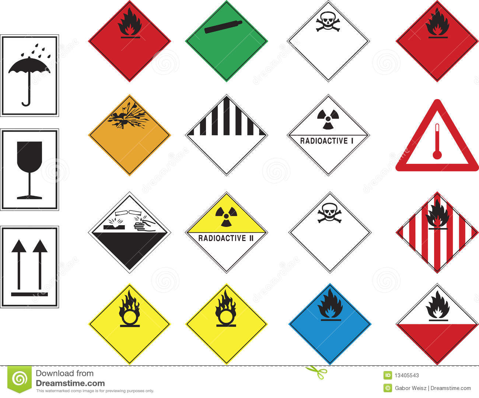 Hazard Symbols Stock Vector Image Of Chemistry