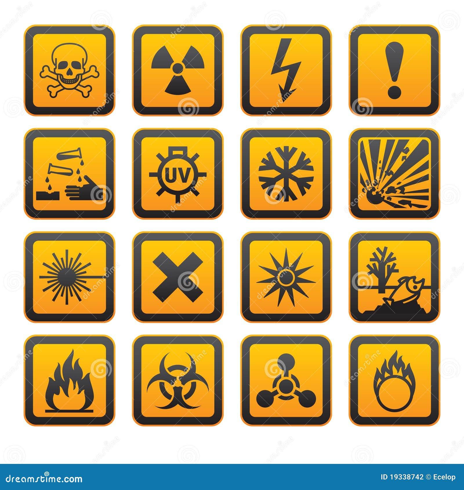 Hazard symbols stock vector illustration of background 13405505 hazard symbols orange s sign stock photography buycottarizona