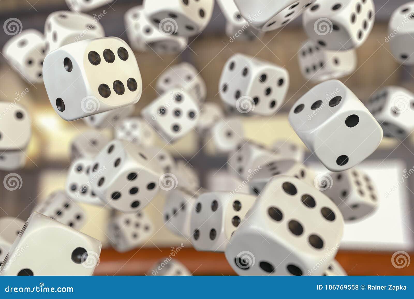 Hazard z wiele kostka do gry