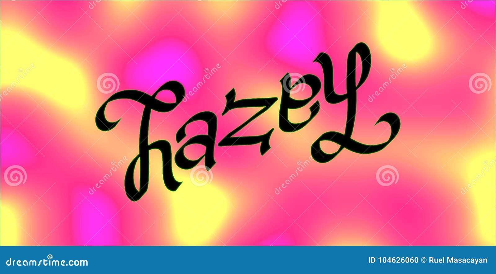 Download Hazel ambigram stock illustratie. Illustratie bestaande uit nantes - 104626060