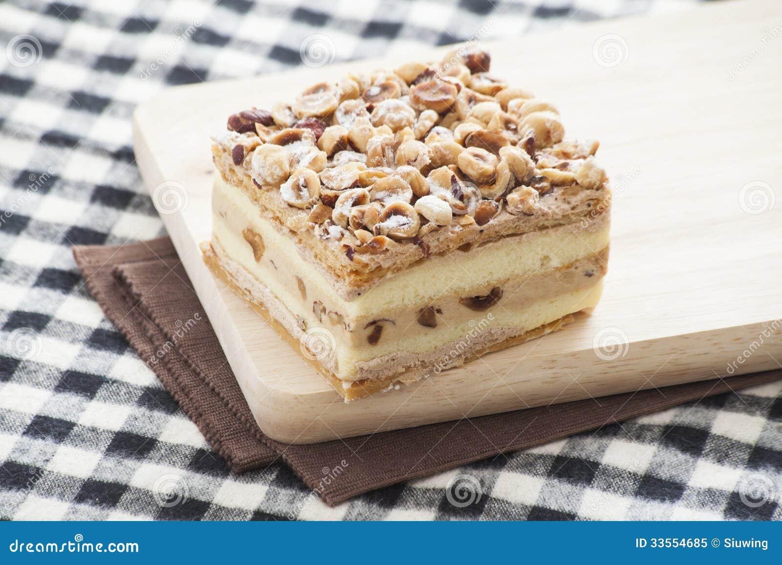 Hazelnut Napoleon Cake Royalty Free Stock Photo - Image ...