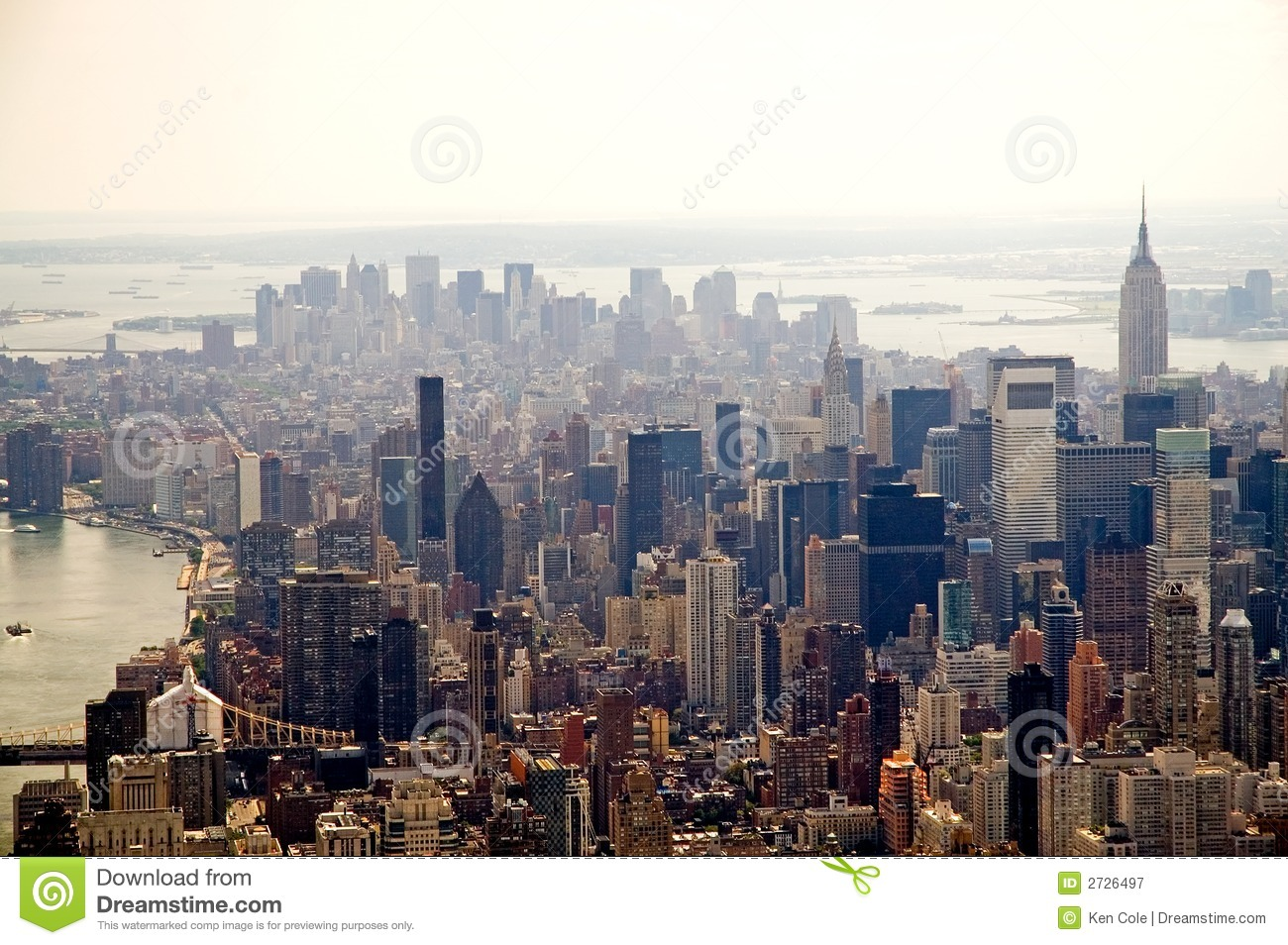 Free Royalty Free Photography Hazy New York City skyline