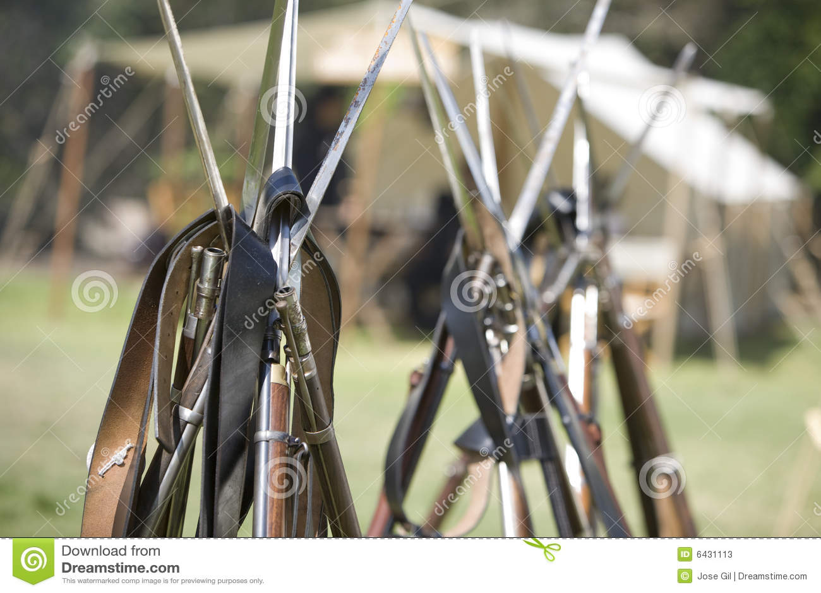 HB Civil War Re-Enactment 32 - Guns Stacked