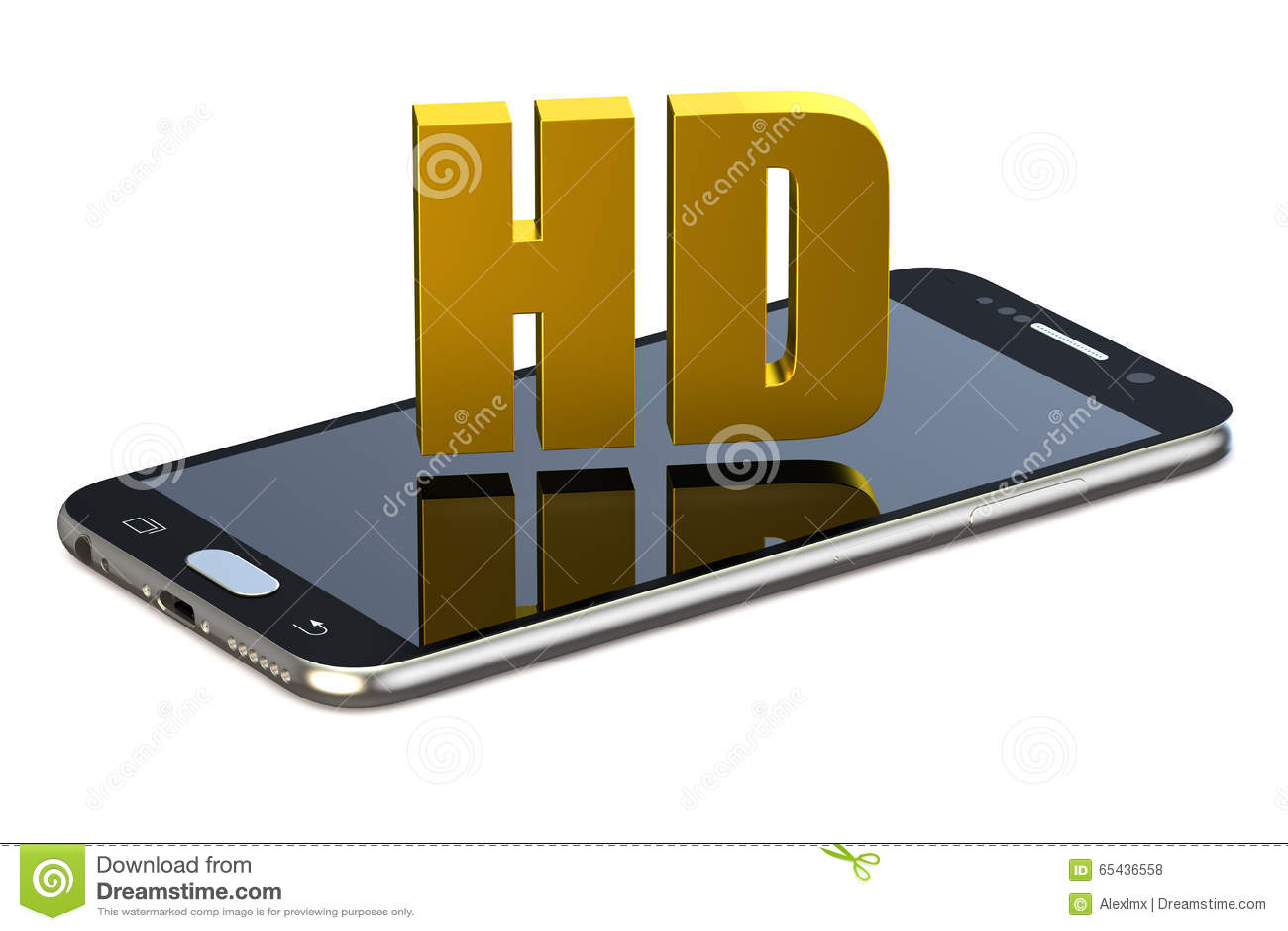 HD-begrepp med smartphonen