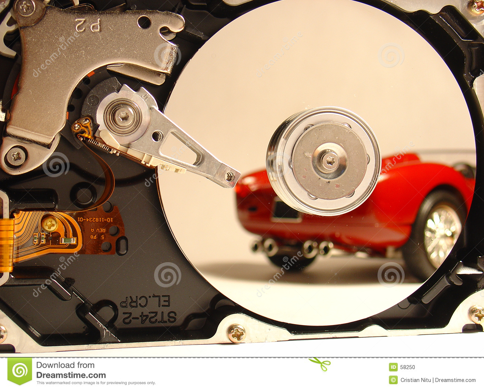 Download HDD contre Ferrari photo stock. Image du automobile, enregistrement - 58250