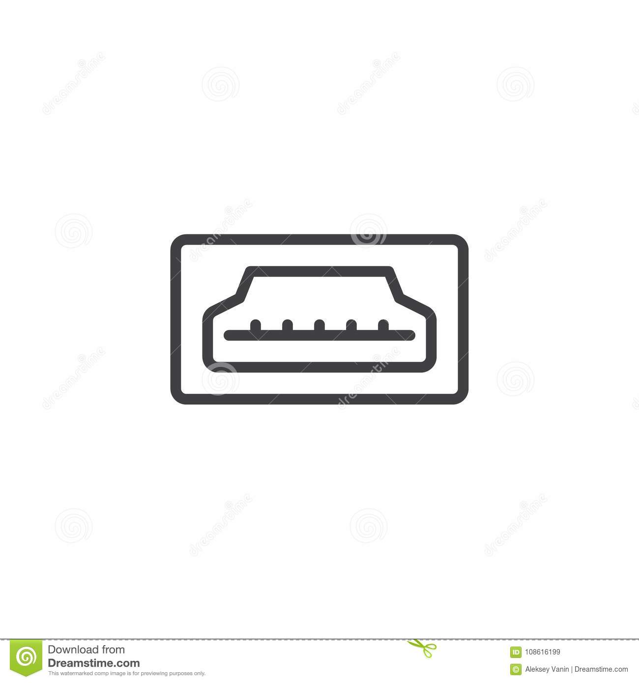 hdmi icon stock illustrations 1 461 hdmi icon stock illustrations vectors clipart dreamstime https www dreamstime com hdmi port line icon outline vector sign linear style pictogram isolated white symbol logo illustration editable stroke hdmi image108616199