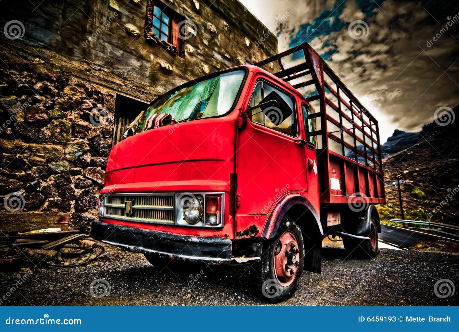Hdr παλαιό κόκκινο πλάνο truch