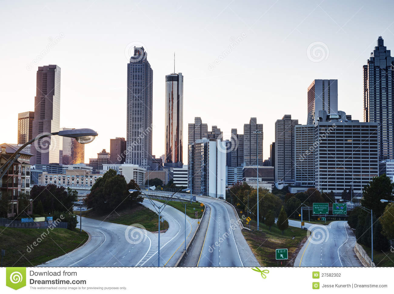 HDR Of Atlanta Skyline Stock Photography Image 27582302