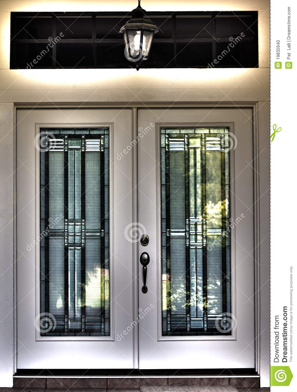 Hdr surreal double front door stock photo image 19835940 for Double door house entrance