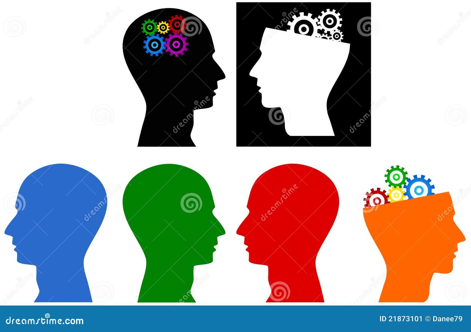Head stock image illustration of symbol illustration 21873101 symbol of thinking gear illustration of head silhouette biocorpaavc