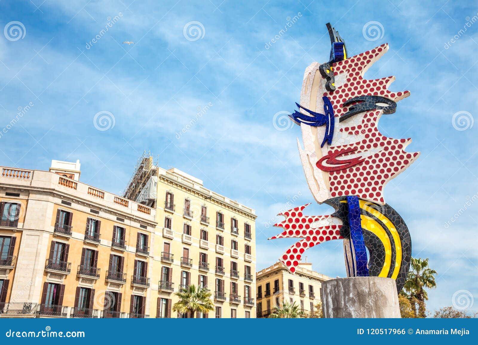 f72fda042af The Head Of Barcelona Or El Cap De Barcelona A Surrealist Sculpture ...