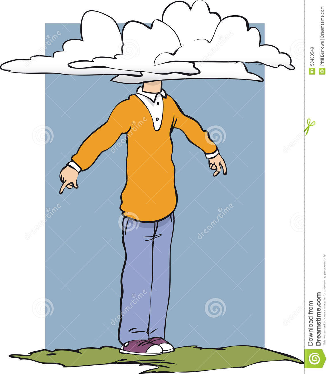 Image result for head in the clouds feet on the ground