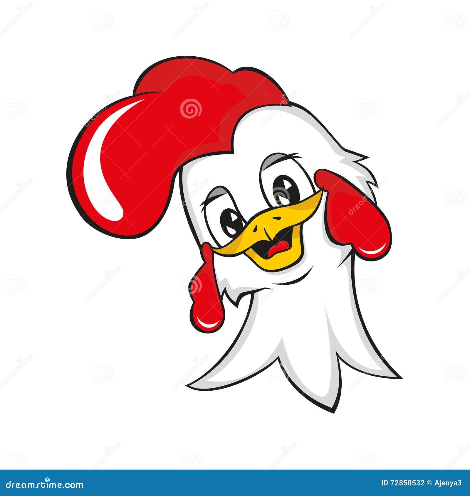 Rooster Head Outline Illustration Vector Illustration ...