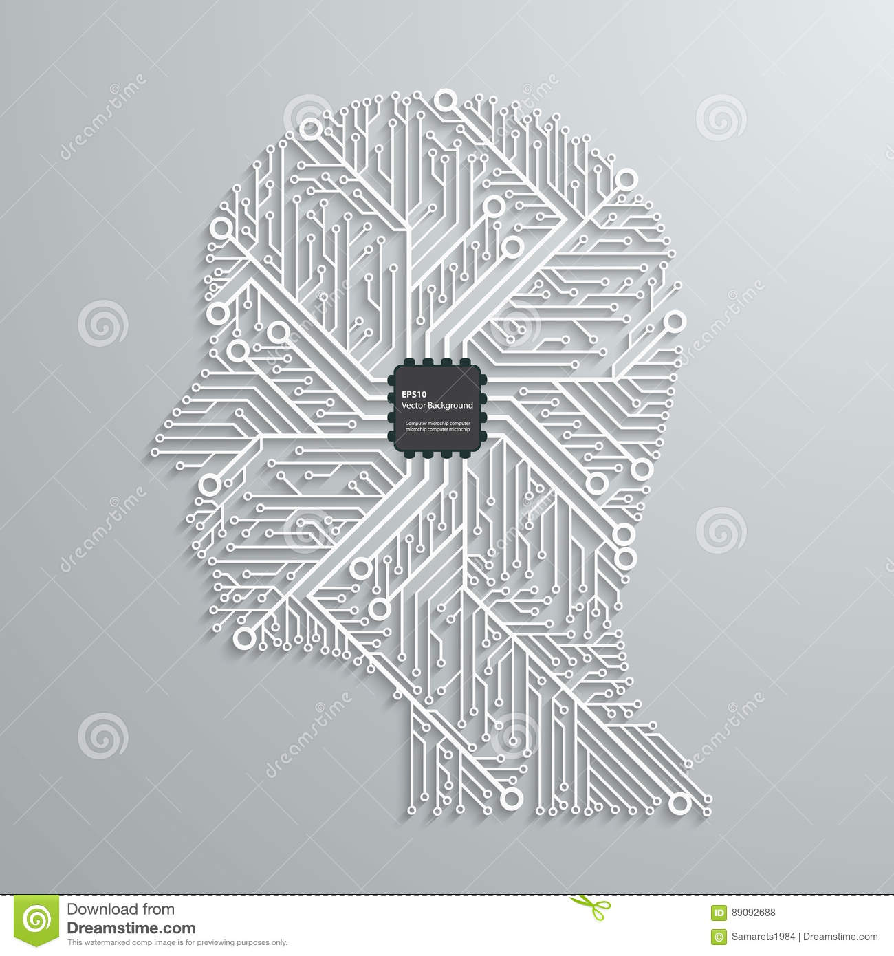 head computing technology in an electronic circuit chip design rh dreamstime com