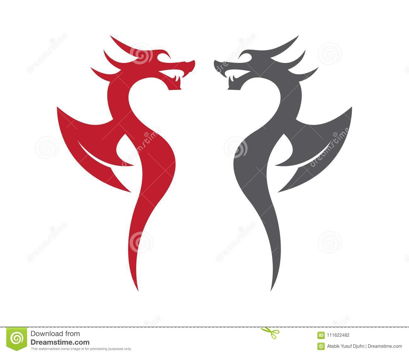 Dragon vector icon stock vector. Illustration of china - 111622482