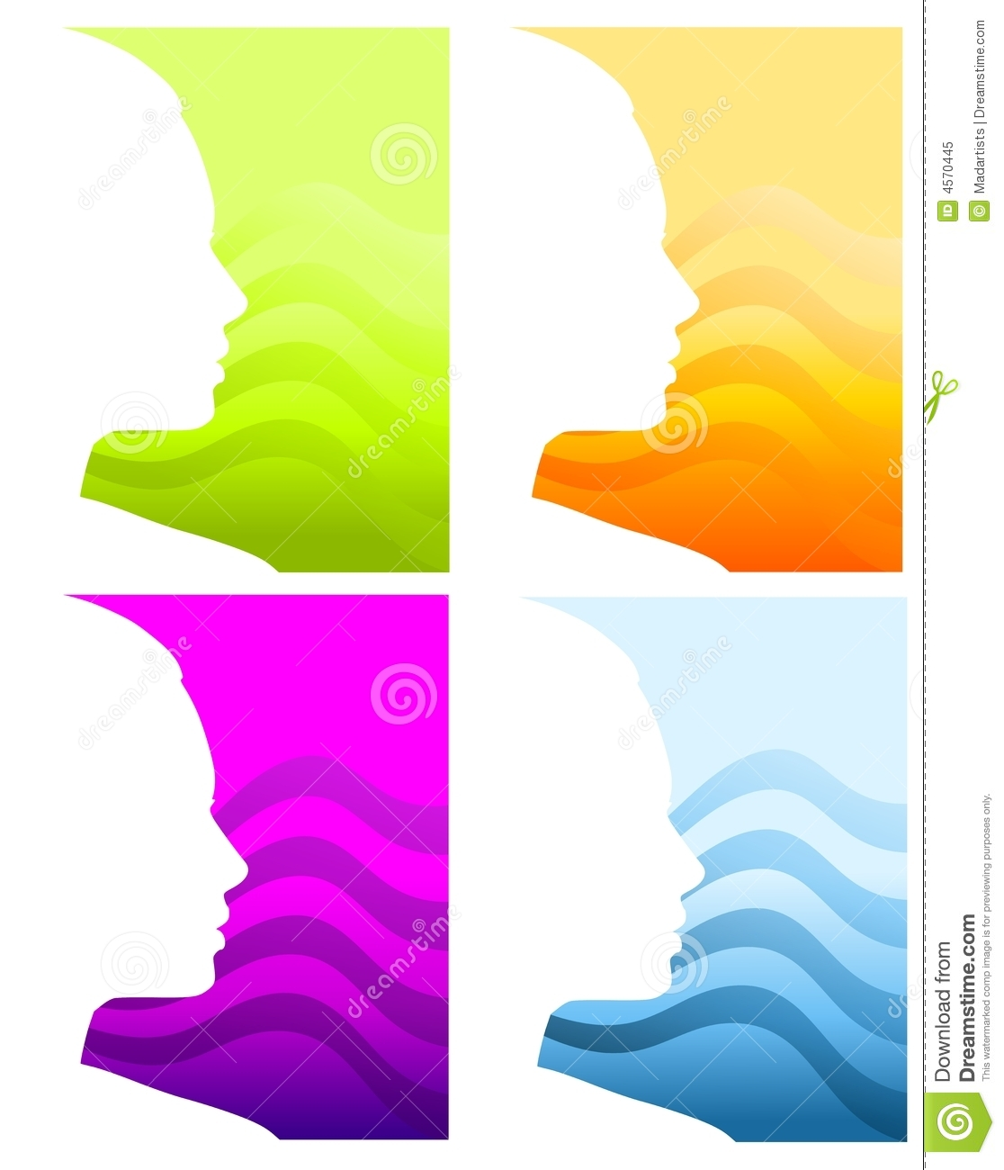Head Face Silhouette Backgrounds Royalty Free Stock Photo