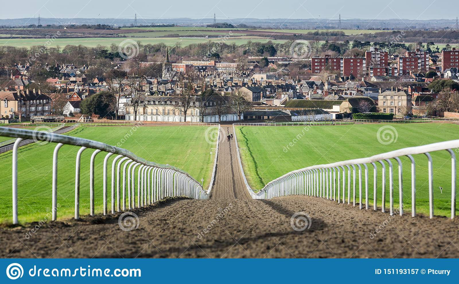 Head-On Gallops & Newmarket Town England