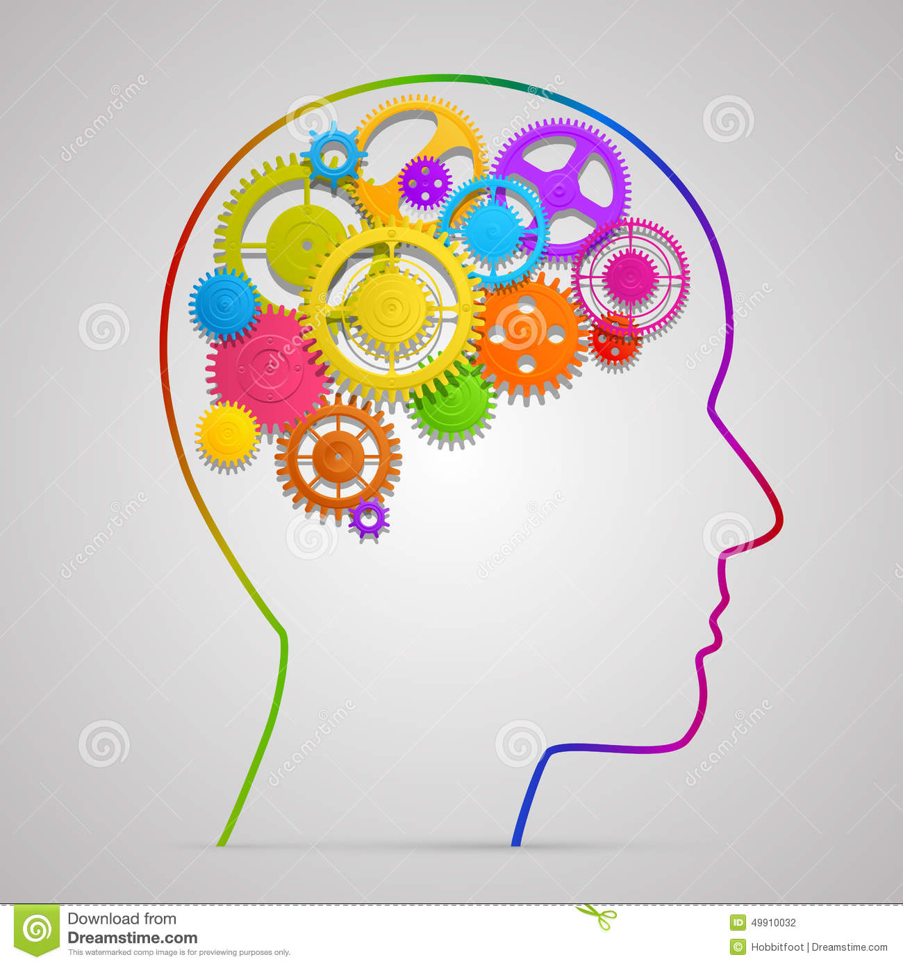 head with gears in brain stock vector image 49910032 Airplane Clip Art Brain Gears Icon