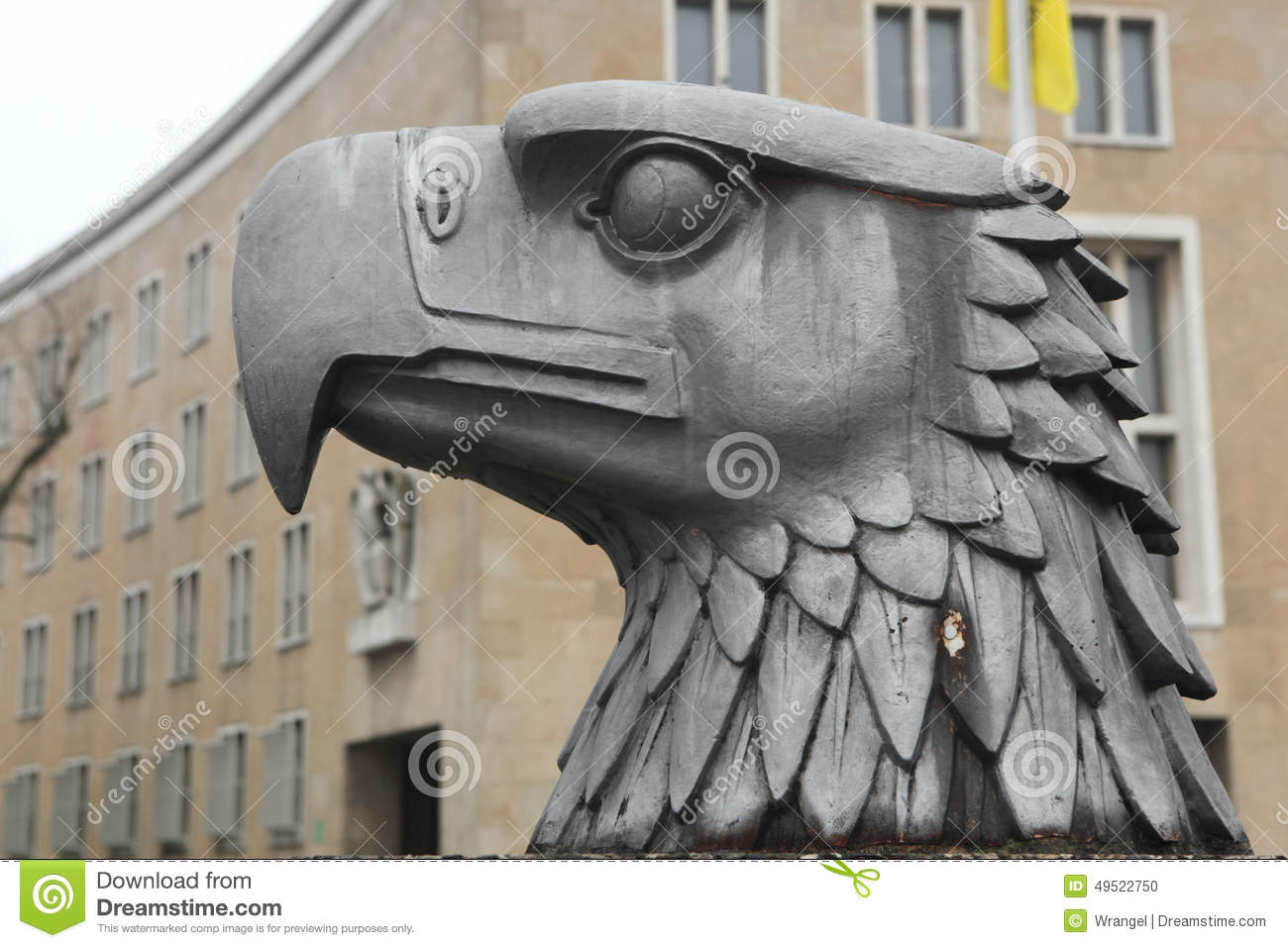 head of german eagle in front of the tempelhof airport in berlin editorial image image of arms. Black Bedroom Furniture Sets. Home Design Ideas