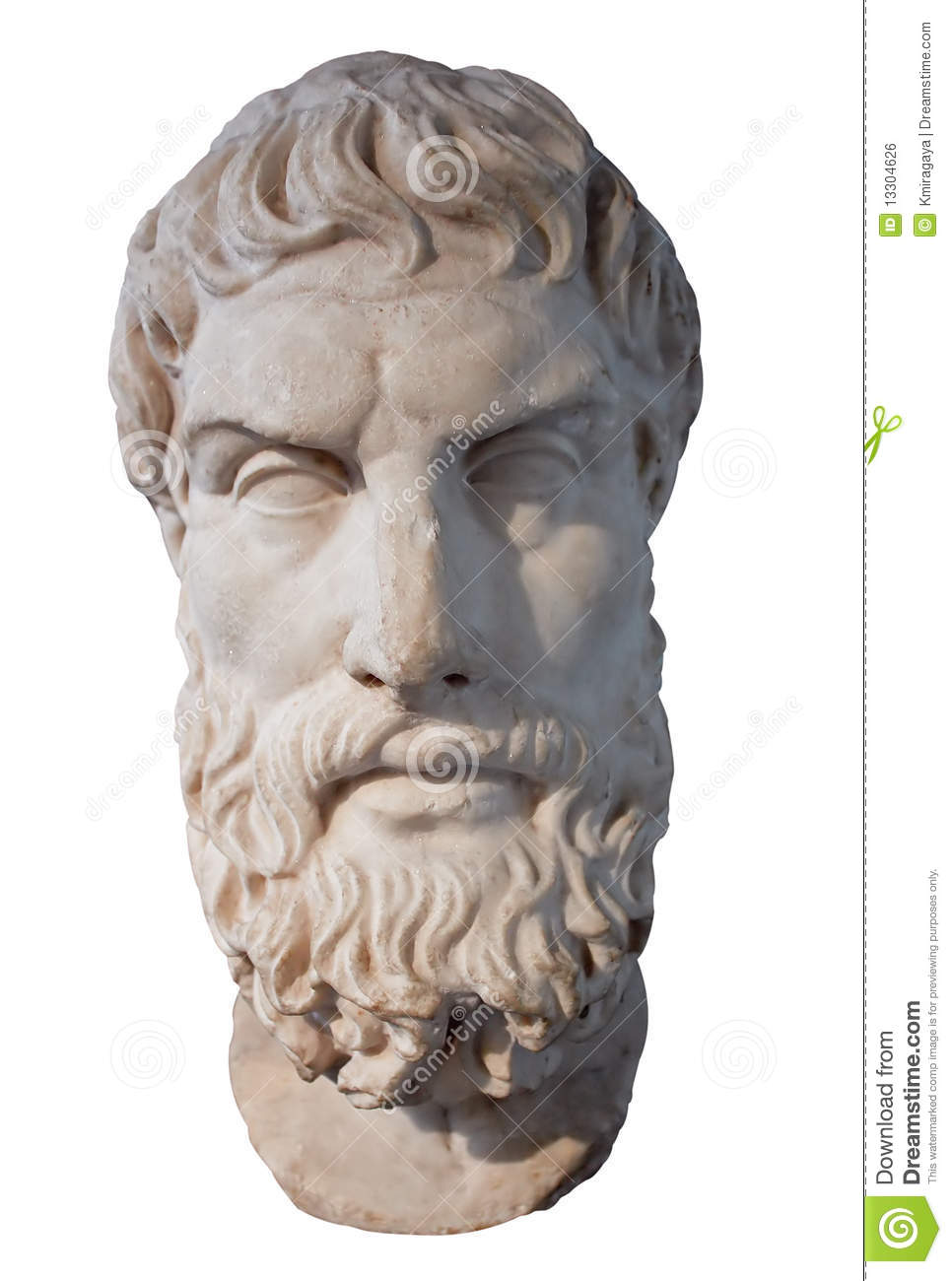 Head Of The Greek Philosopher Epikouros Royalty Free Stock