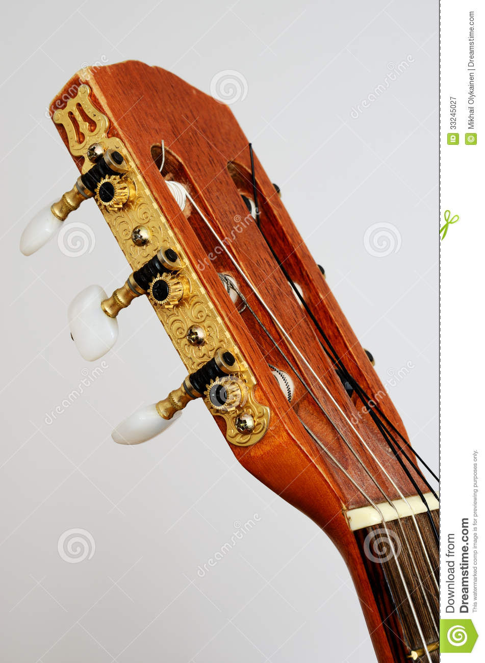 head guitar neck with tuning pegs on gray stock image image of folk acoustic 33245027. Black Bedroom Furniture Sets. Home Design Ideas