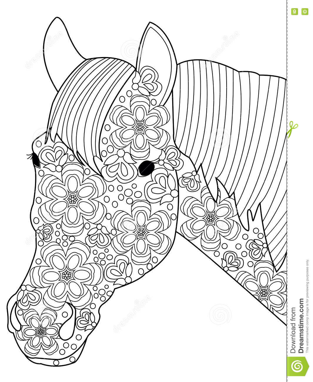 Royalty Free Vector Download Head Horse Coloring
