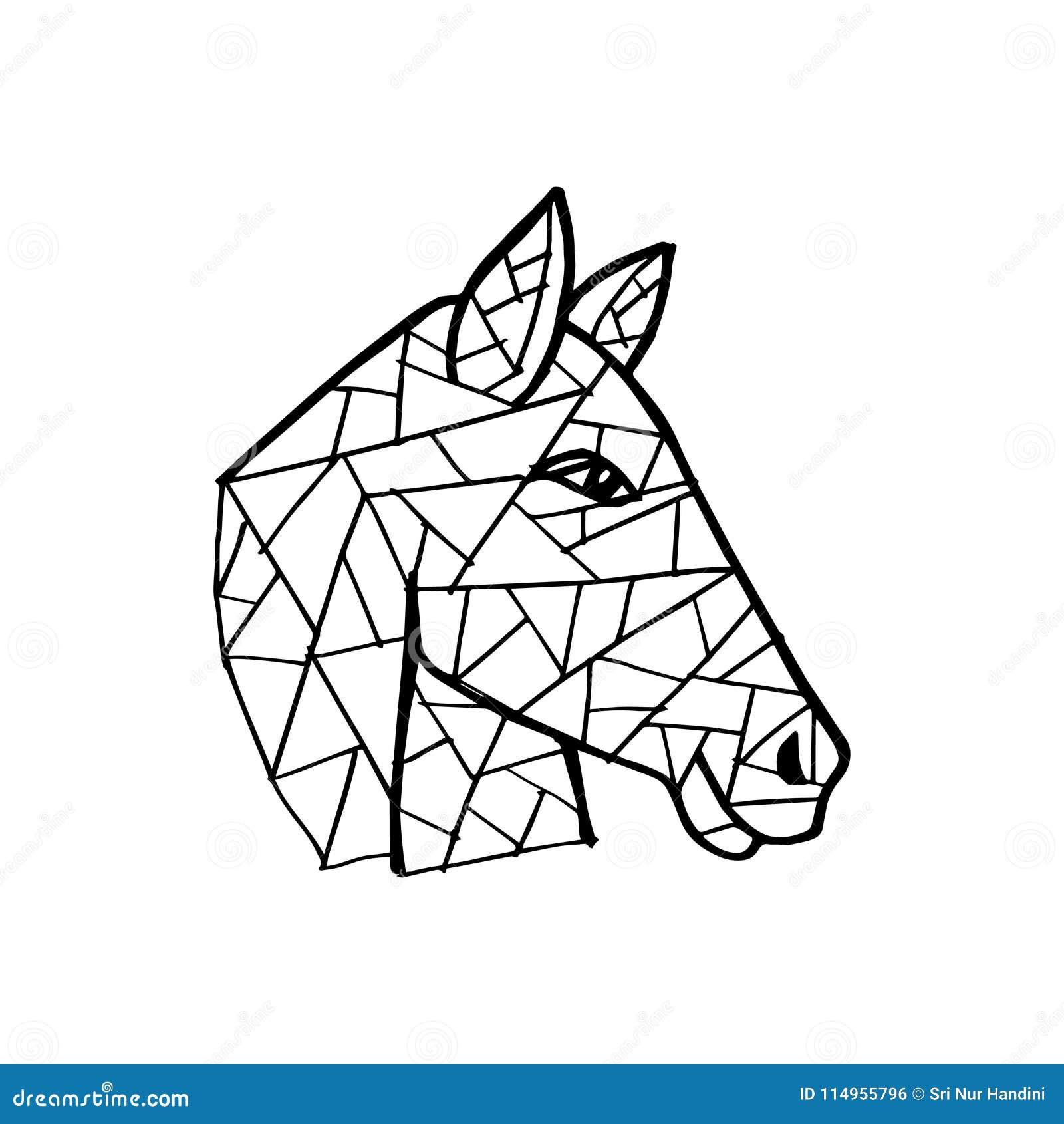 Geometric Horse Head Stock Illustrations 564 Geometric Horse Head Stock Illustrations Vectors Clipart Dreamstime