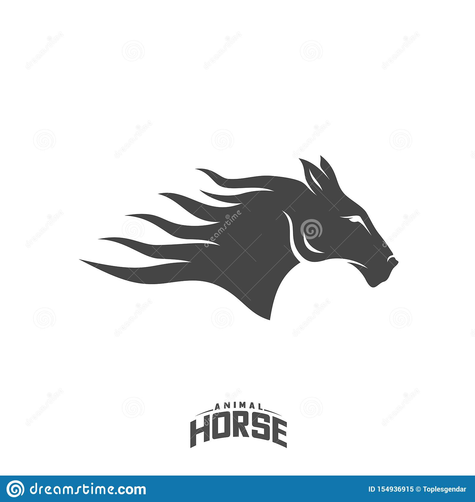 Head Horse Logo Design Vector Horse Fire Logo Template Illustration Vector Stock Vector Illustration Of Power Graphic 154936915