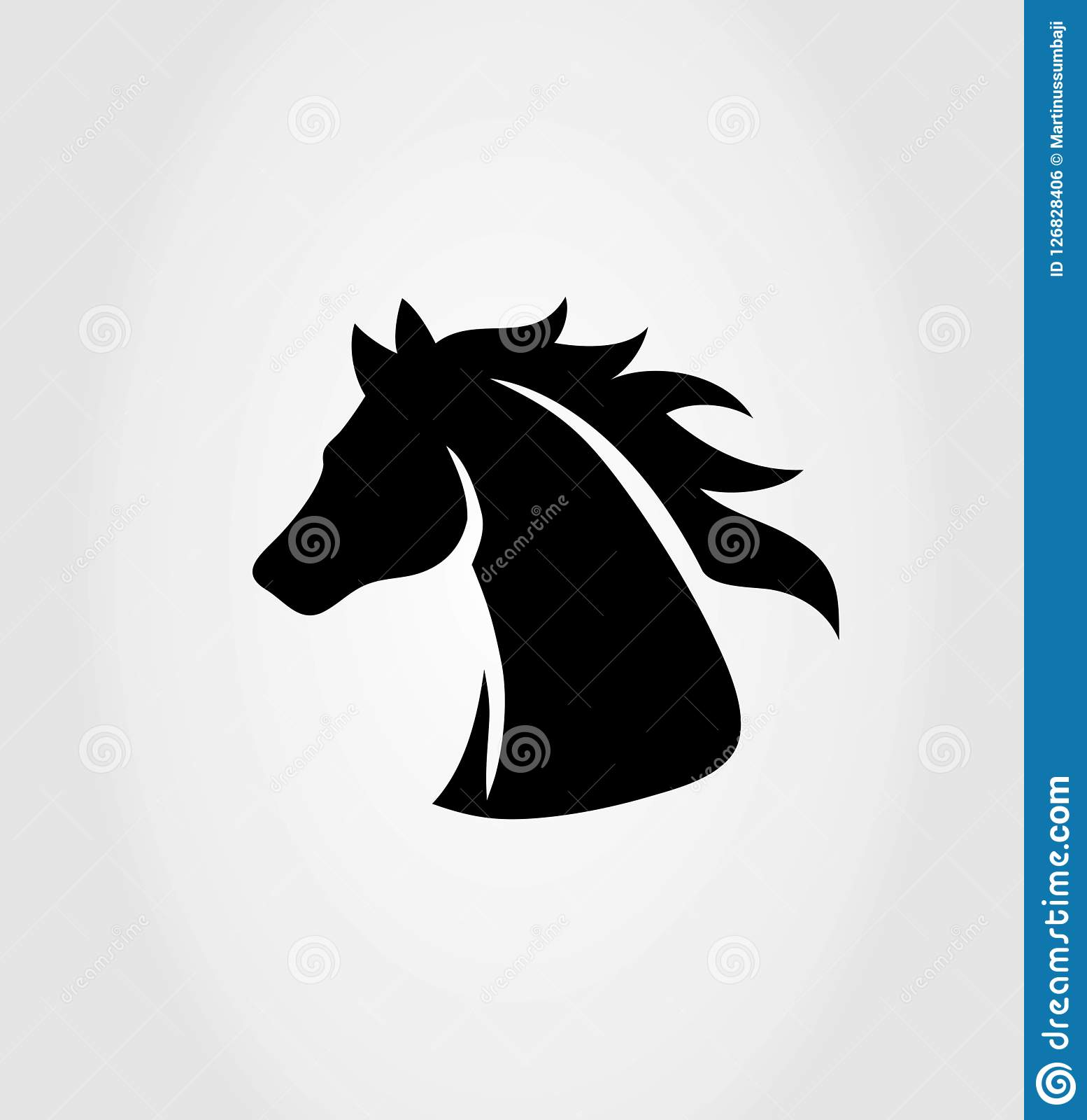 Head Horse Logo Art Vector Design Stock Vector Illustration Of Silhouette Bronco 126828406