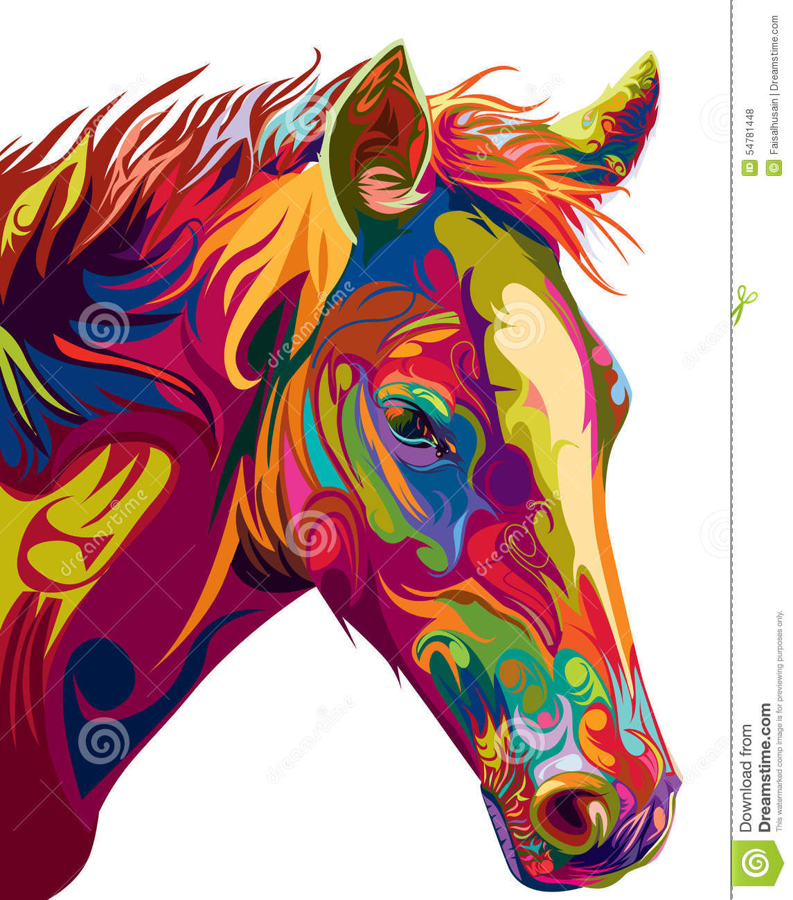 Head Horse Vector Stock Vector Illustration Of Ornament