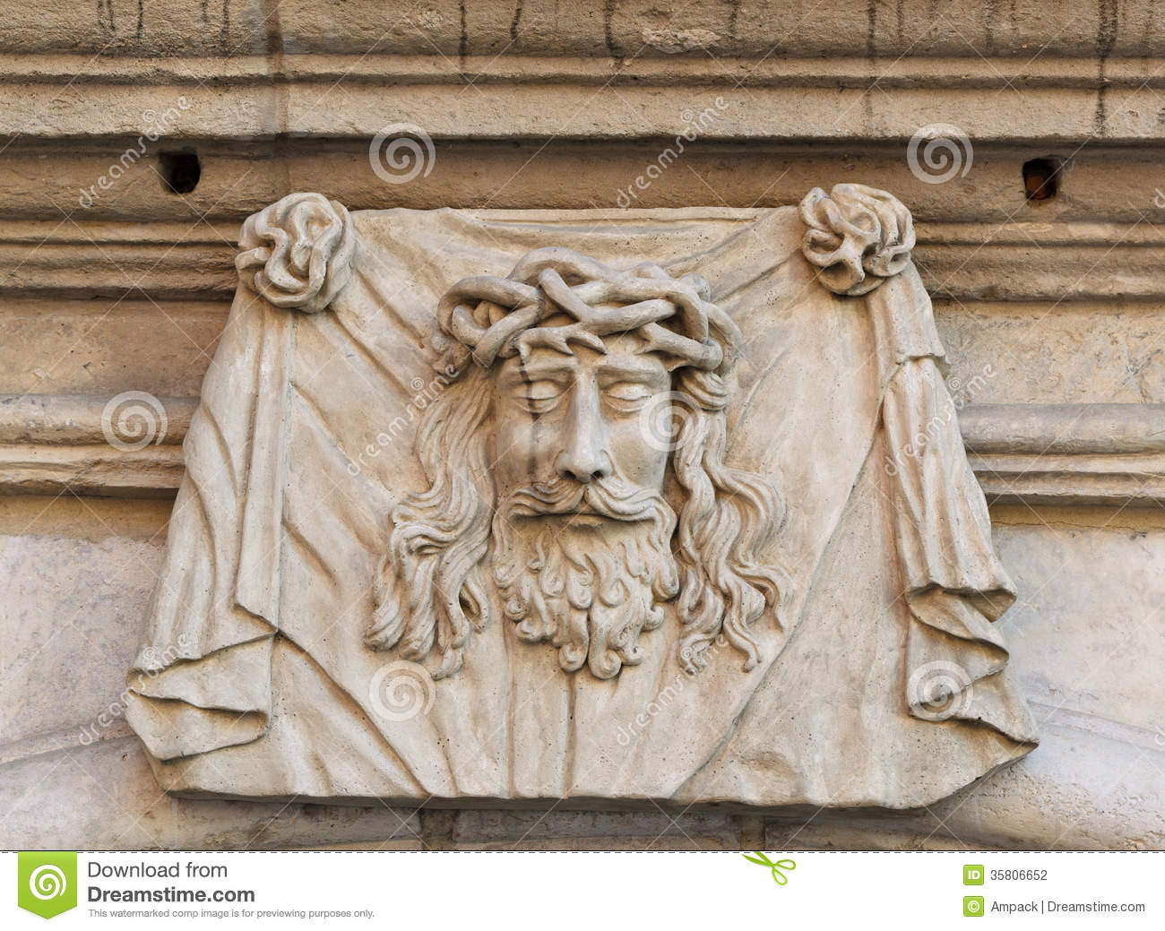 Head of jesus christ stock photography image