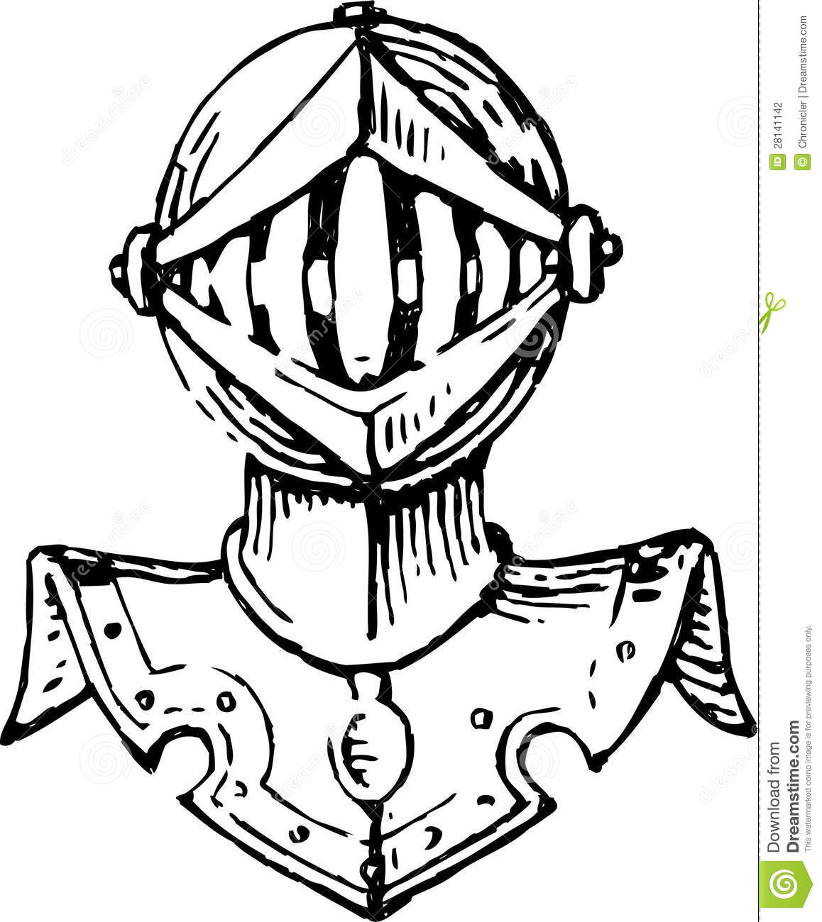 Head Of A Knight In Armor Stock Photography - Image: 28141142