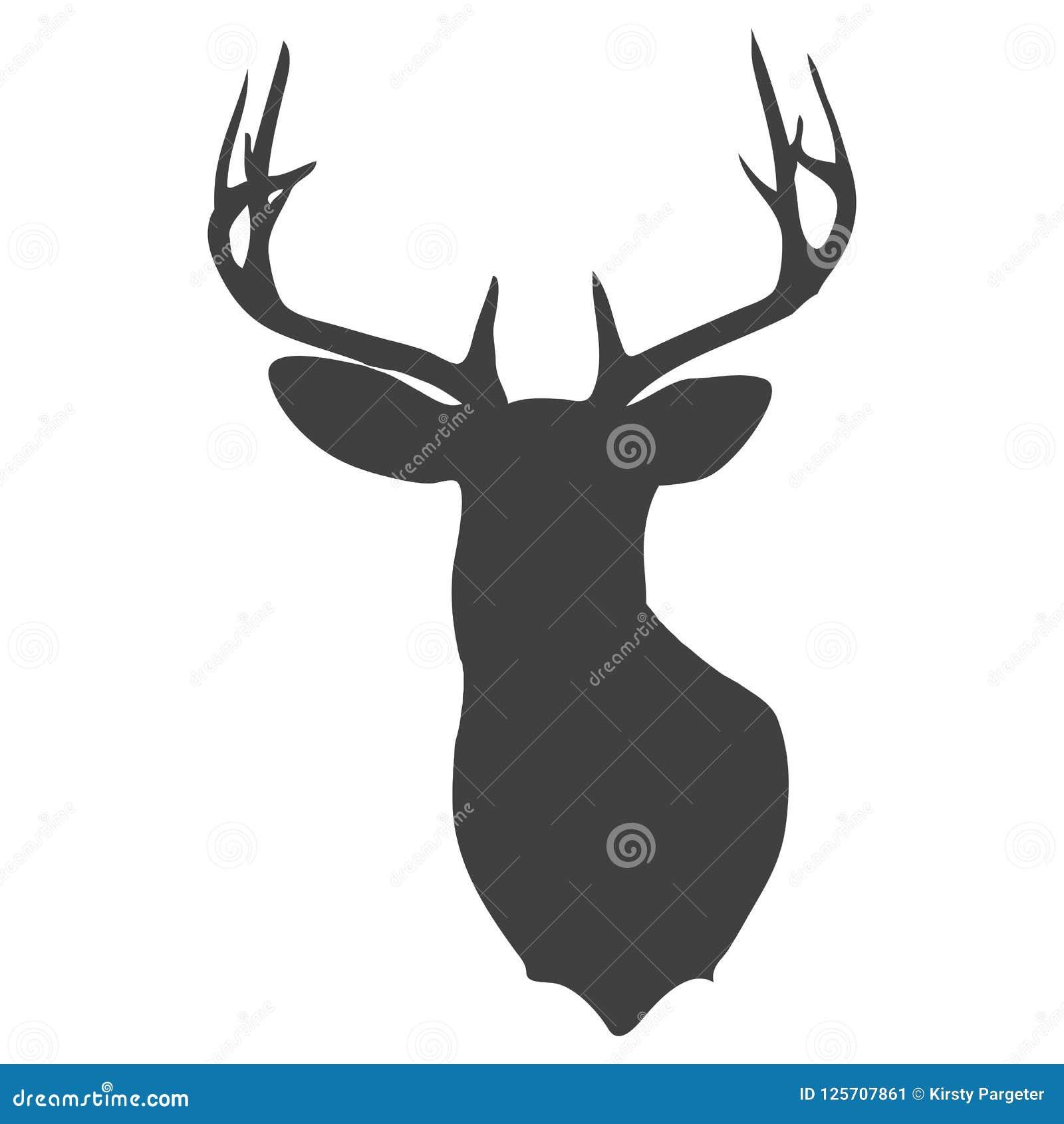 Head kontur för hjortar