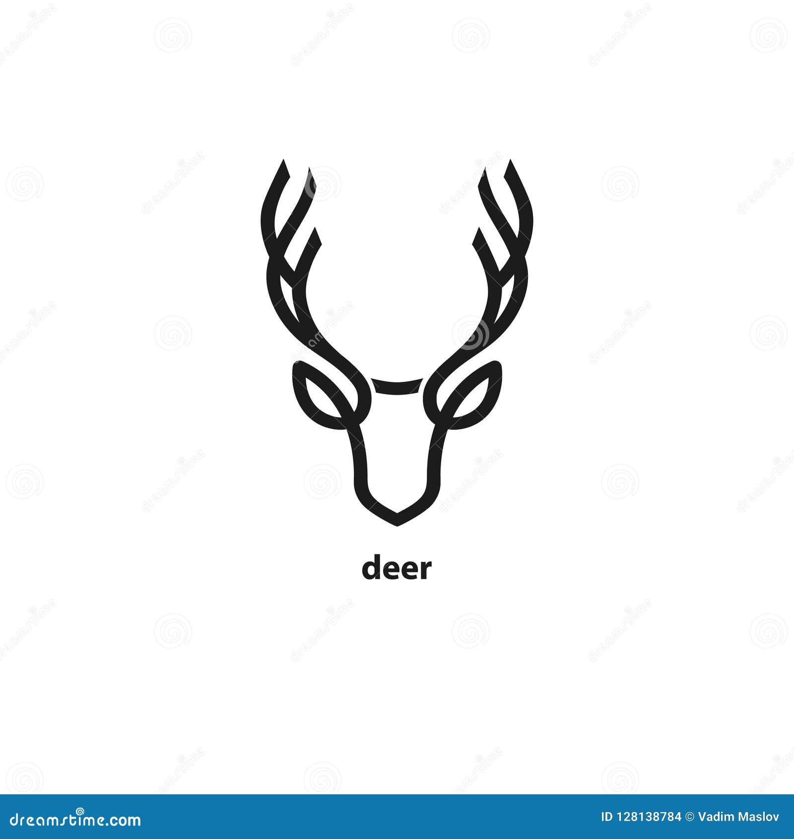 Head linje symbol för hjortar