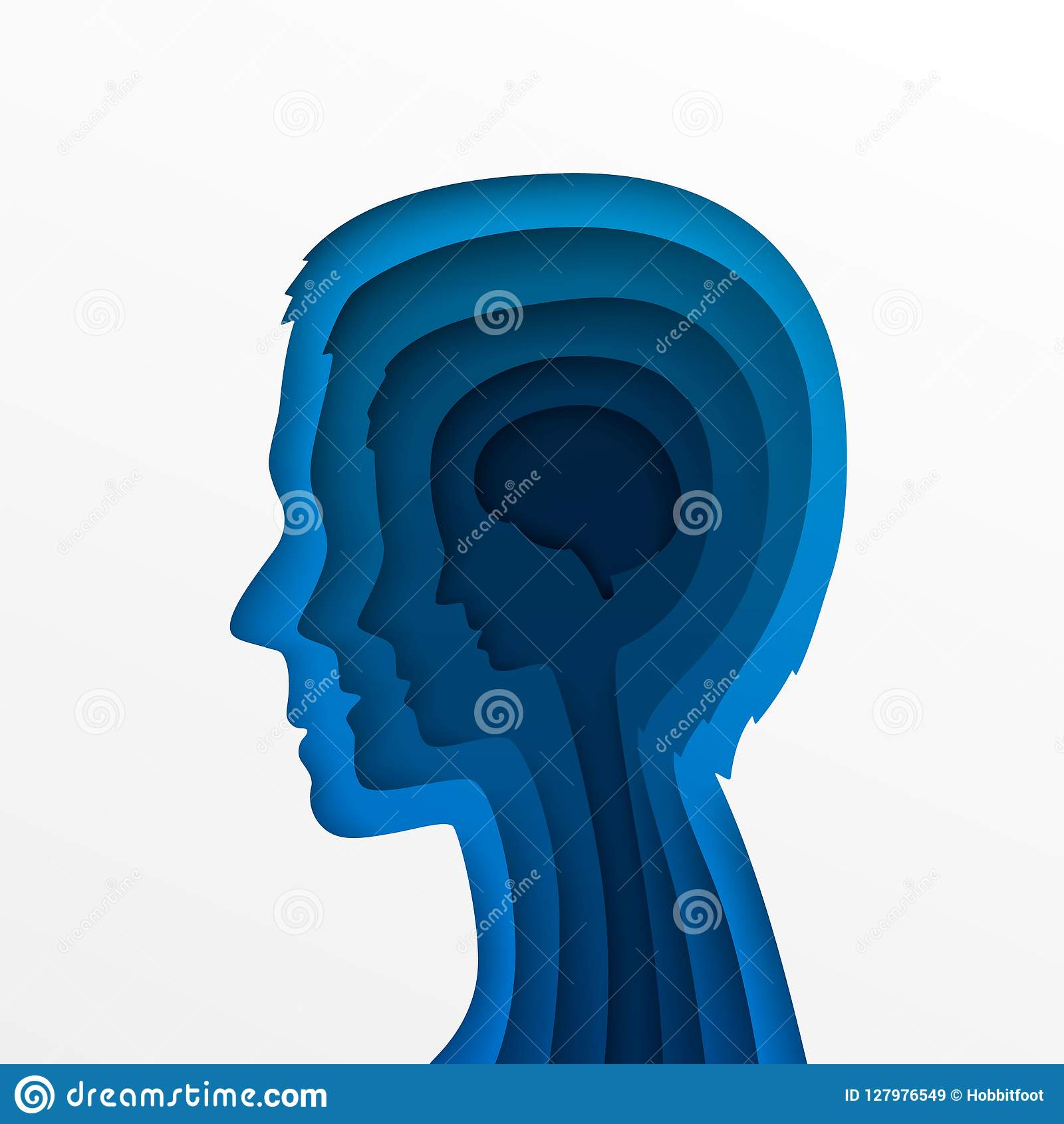 The Head Of A Man And Layers Stock Vector - Illustration of