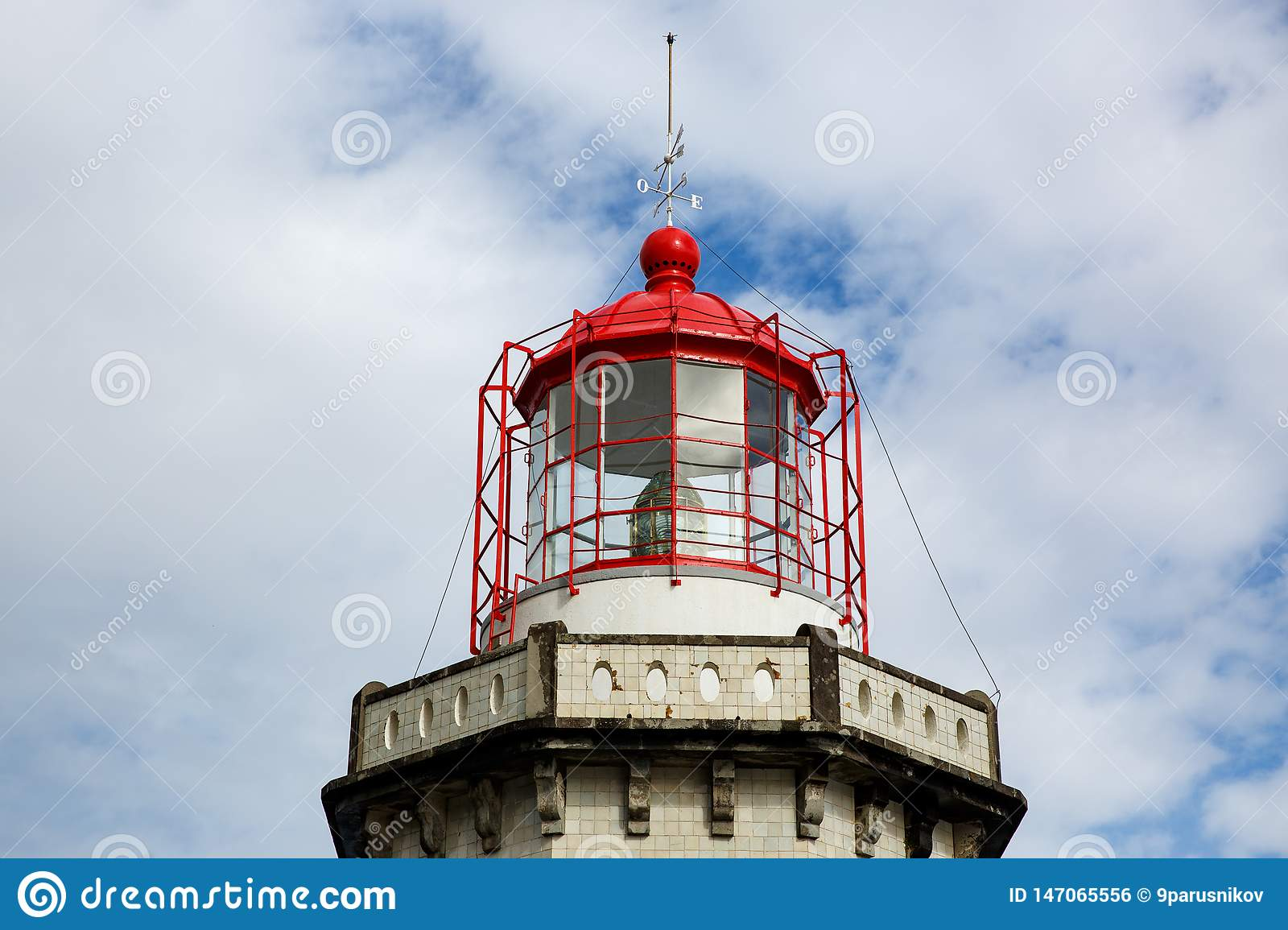 Head of old lighthouse