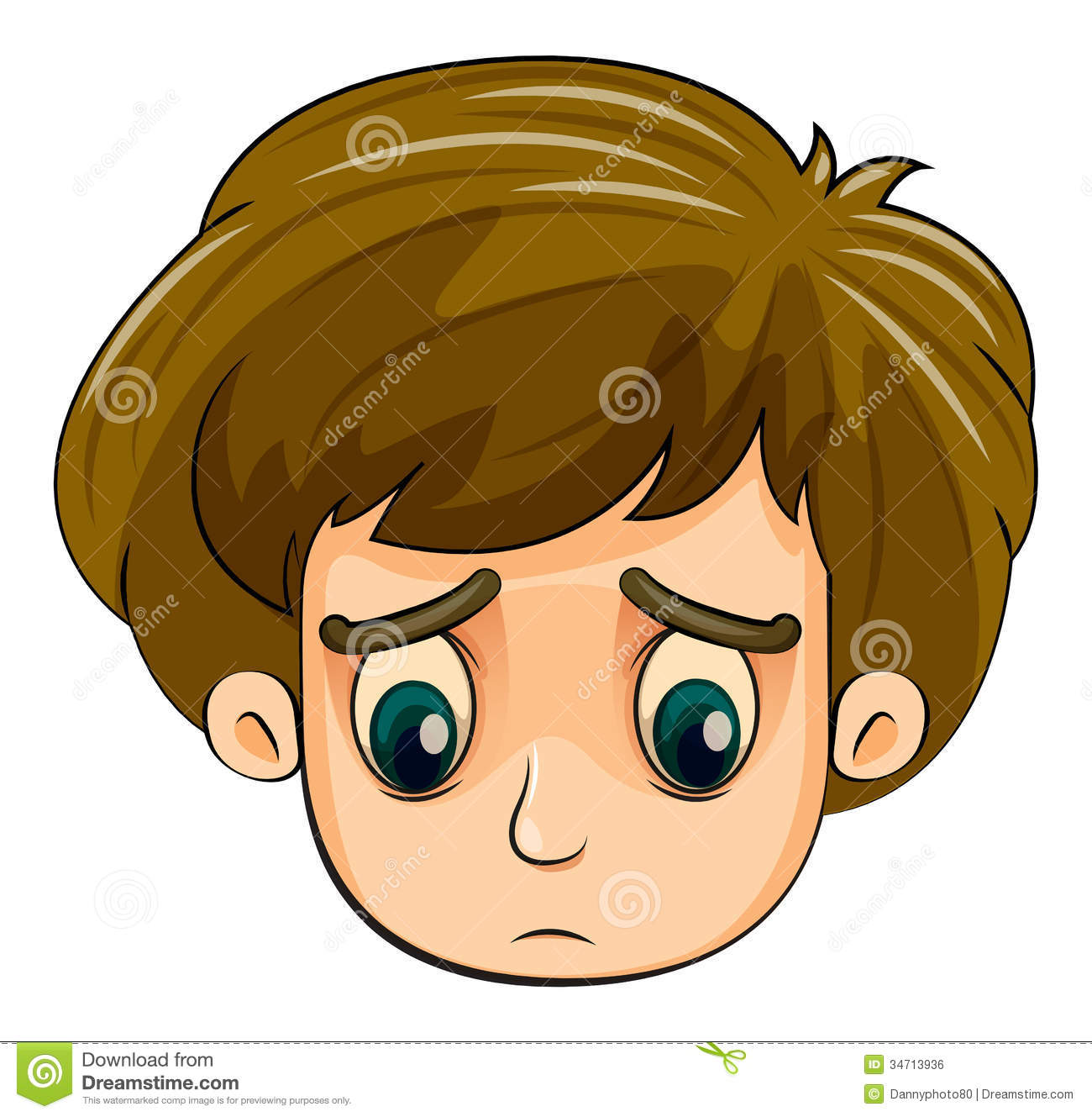 a head of a sad young boy stock vector image of gentleman eyeballs clip art images eyeball clipart images