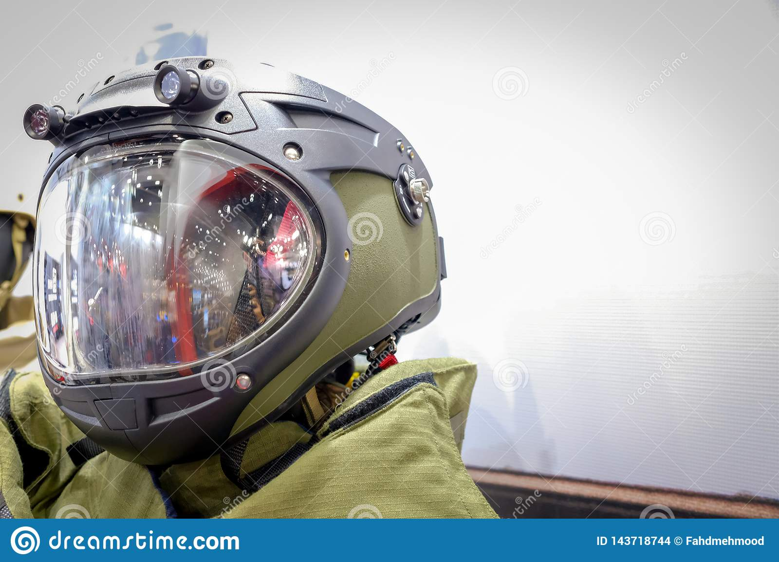 Head shot of a Army Space suit