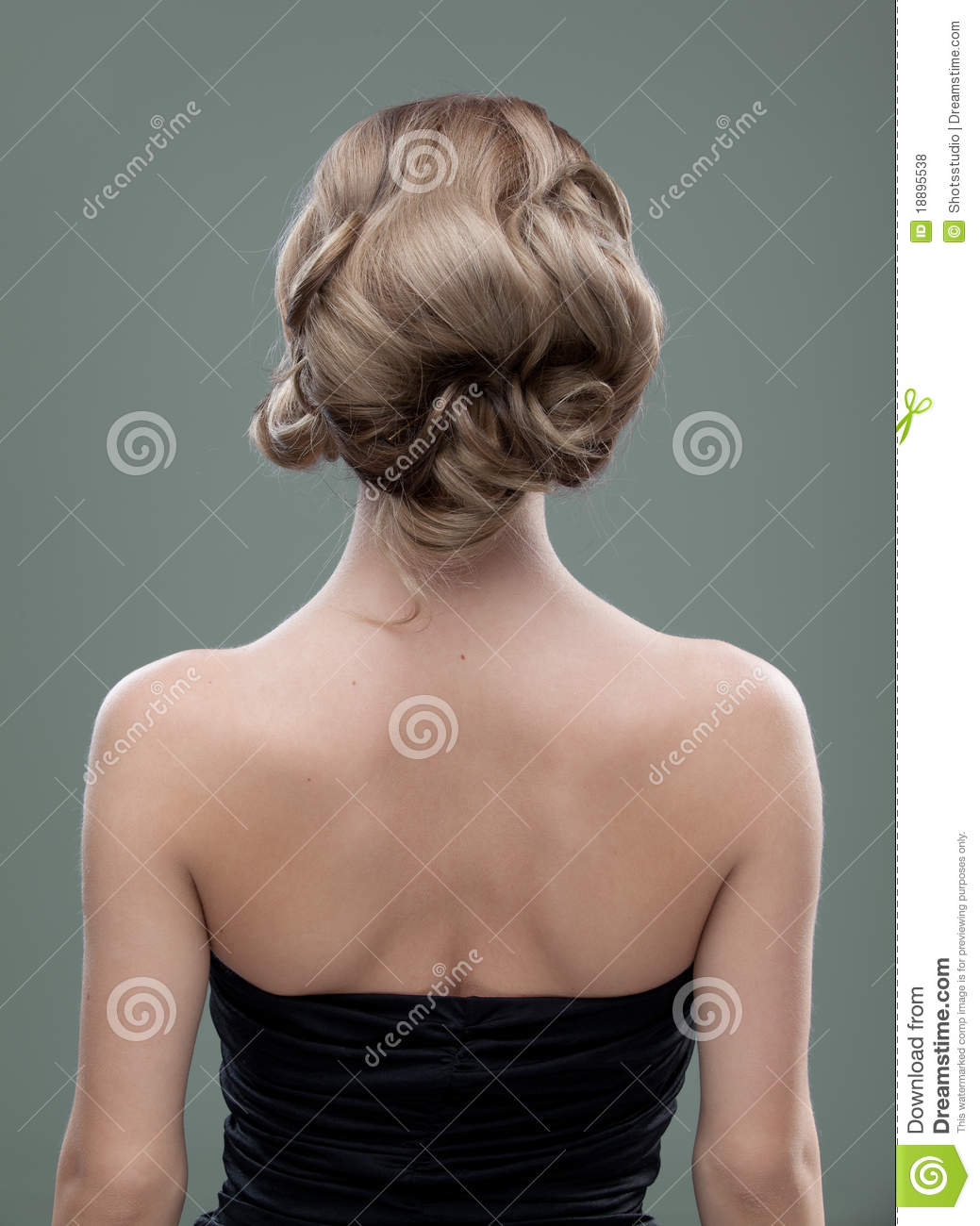 Head And Shoulders Back Image Of A Young Royalty Free